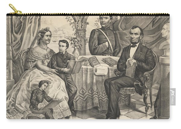 Lincoln And His Family Carry-all Pouch