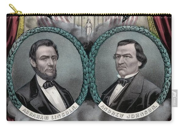 Lincoln And Johnson Election Banner 1864 Carry-all Pouch