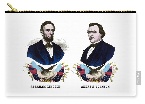 Lincoln And Johnson Campaign Poster Carry-all Pouch