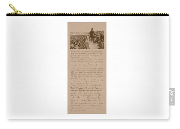 Lincoln And The Gettysburg Address Carry-all Pouch