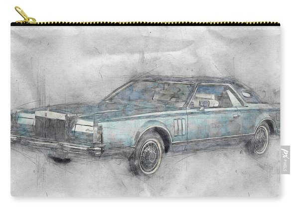 Lincoln Continental Mark V 1 - 1977 - Automotive Art - Car Posters Carry-all Pouch