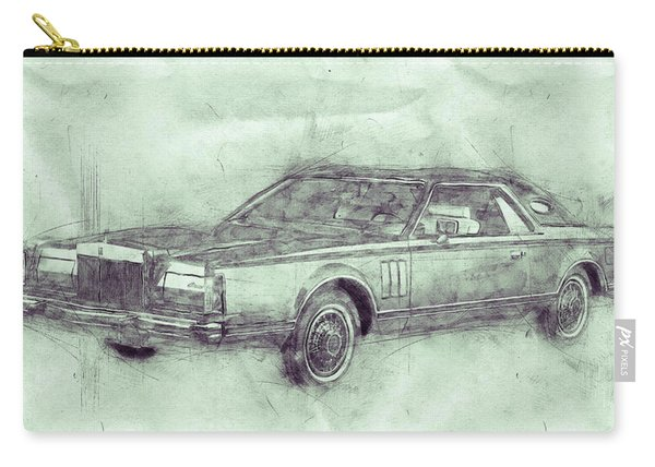 Lincoln Continental Mark V 3 - 1977 - Automotive Art - Car Posters Carry-all Pouch