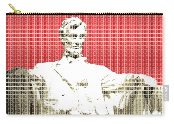 Lincoln Memorial - Red Carry-all Pouch