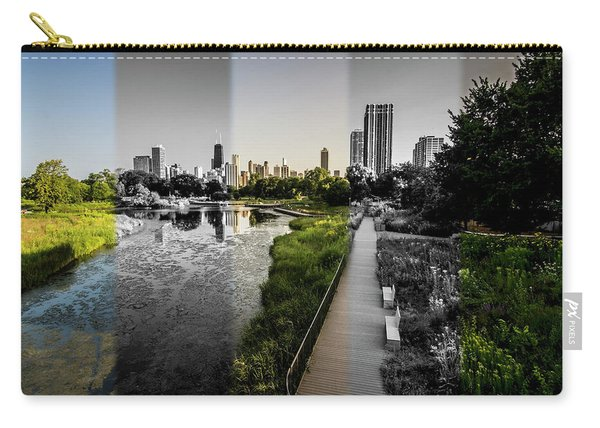 Lincoln Park Time Slice Chicago Skyline Carry-all Pouch