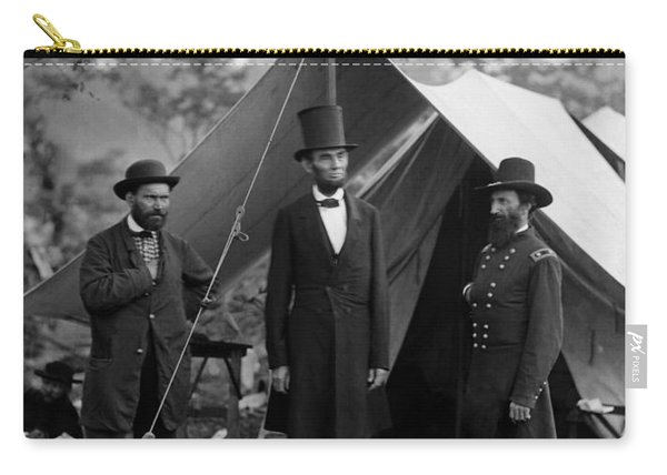 Lincoln With Allan Pinkerton - Battle Of Antietam - 1862 Carry-all Pouch