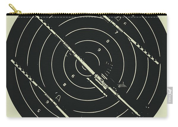 Line Art Rifle Range Carry-all Pouch