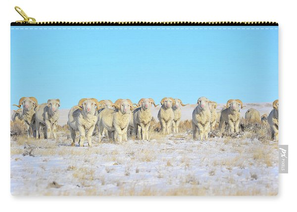 Line Em Up Rams Carry-all Pouch