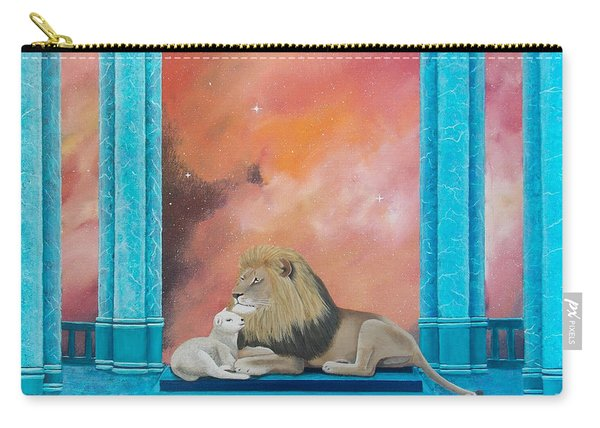 Lion And Lamb Carry-all Pouch