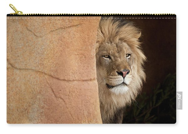Lion Emerging    Captive Carry-all Pouch