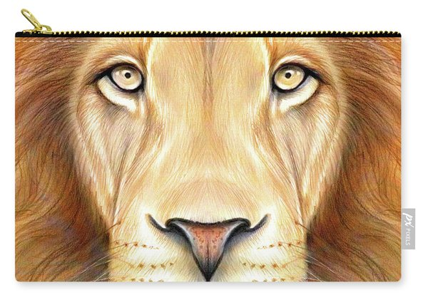 Lion Head In Color Carry-all Pouch