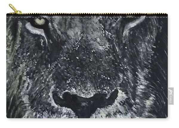 Carry-all Pouch featuring the painting Lion by Kevin Daly