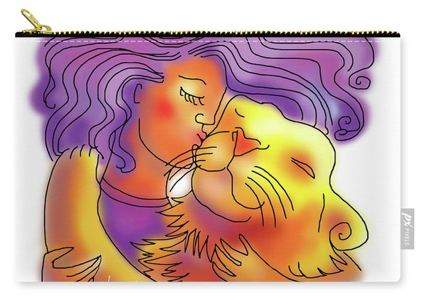 Lion Kiss Carry-all Pouch