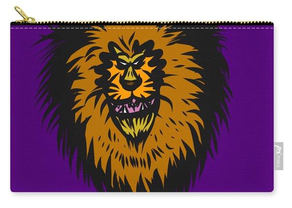 Lion Roar Purple Carry-all Pouch