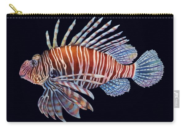 Lionfish In Black Carry-all Pouch