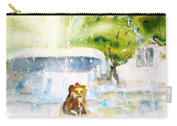 Lions Fountain Plaza Las Delicias  Ponce Cathedral Puerto Rico Carry-all Pouch