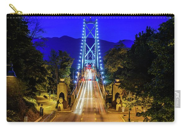 Lions Gate Bridge At Night Carry-all Pouch