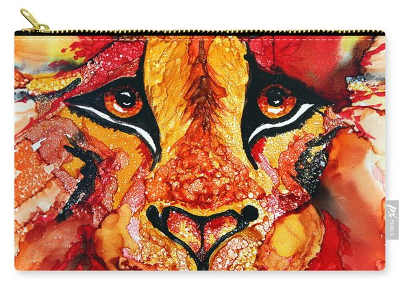 Lion's Head  Red Carry-all Pouch