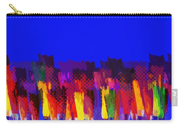 Lisse - Tulips Colors On Blue Carry-all Pouch