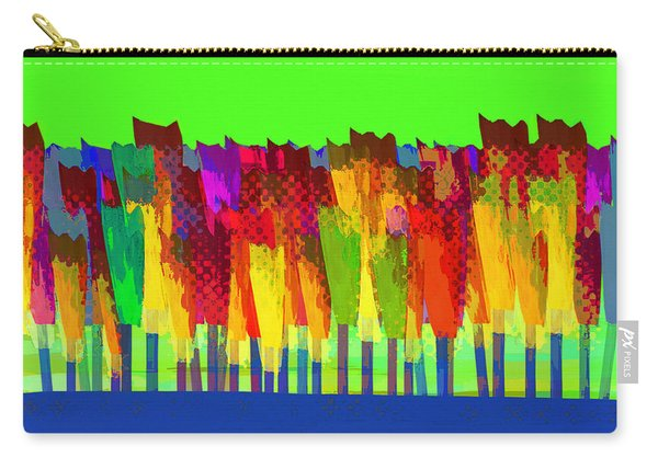 Lisse - Tulips On Green Sky Carry-all Pouch