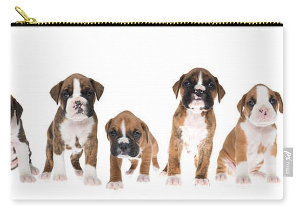 Litter Of Boxer Puppies Carry-all Pouch