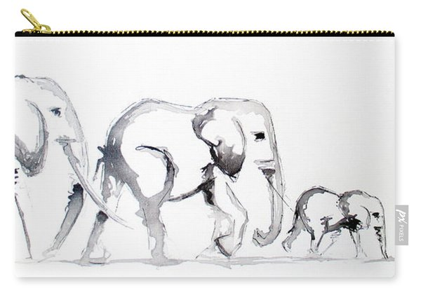 Little Elephant Family Carry-all Pouch