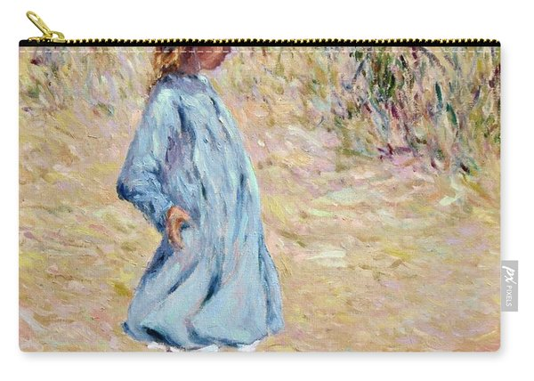 Little Girl With Blue Dress Carry-all Pouch
