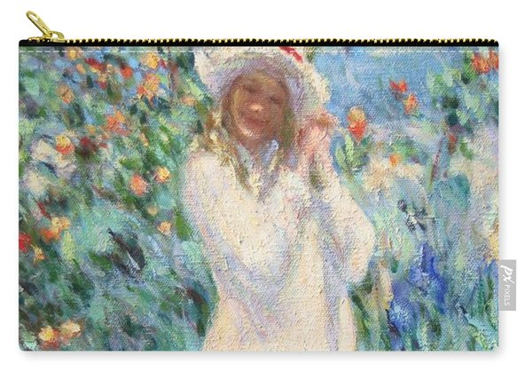 Little Girl With Roses / Detail Carry-all Pouch