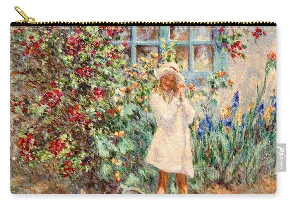 Little Girl With Roses  Carry-all Pouch