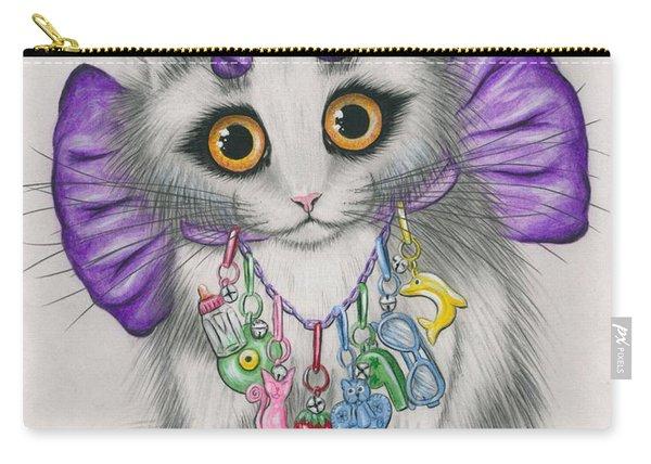 Little Purple Horns - 1980s Cute Devil Kitten Carry-all Pouch