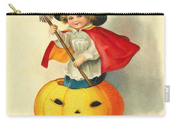 Little Witch Inside Pumpkin Carry-all Pouch