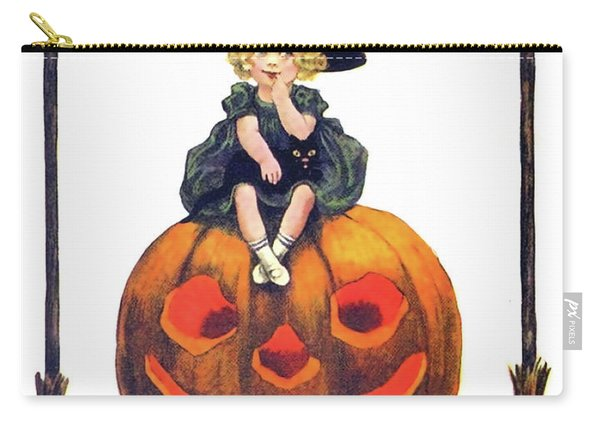 Little Witch On A Big Pumpkin Carry-all Pouch