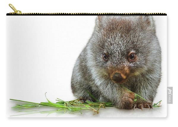 Carry-all Pouch featuring the photograph Little Wombat by Benny Marty