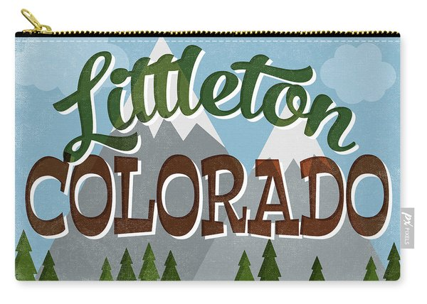 Littleton Colorado Snowy Mountains Carry-all Pouch