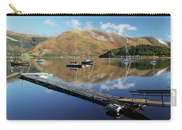 Loch Leven  Jetty And Boats Carry-all Pouch