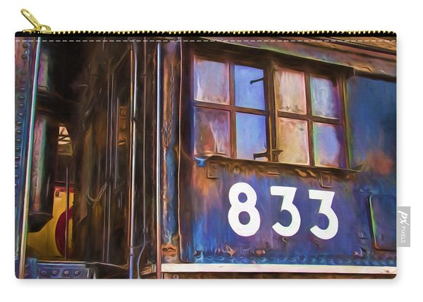 Locomotive #833 Painterly Impressions Carry-all Pouch