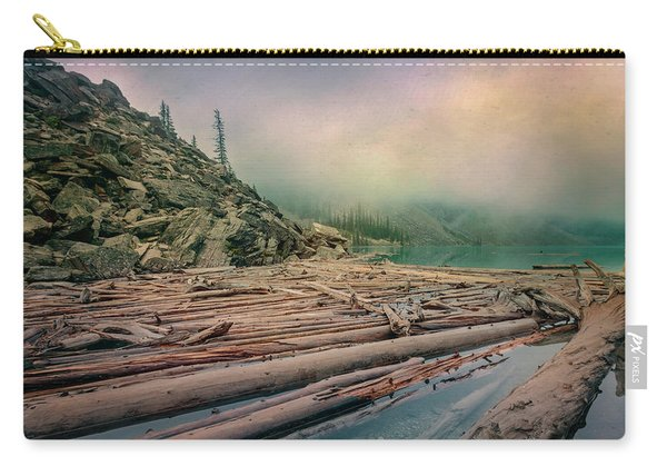 Log Jam At Moraine Lake Banff National Park Canada Carry-all Pouch