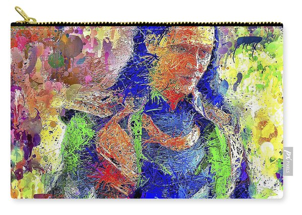 Carry-all Pouch featuring the mixed media Loki by Al Matra
