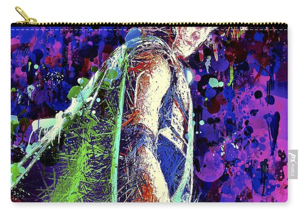 Carry-all Pouch featuring the mixed media Loki Ready For War by Al Matra