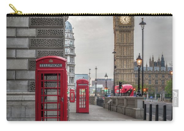 London Phone Booths And Big Ben Carry-all Pouch