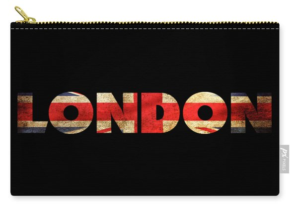 London Vintage British Flag Tee Carry-all Pouch
