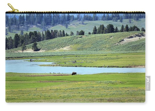 Lone Bison Out On The Prairie Carry-all Pouch