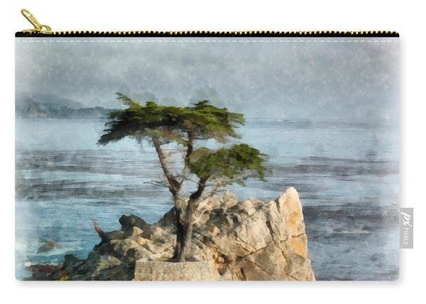 Lone Cypress Watercolor Carry-all Pouch