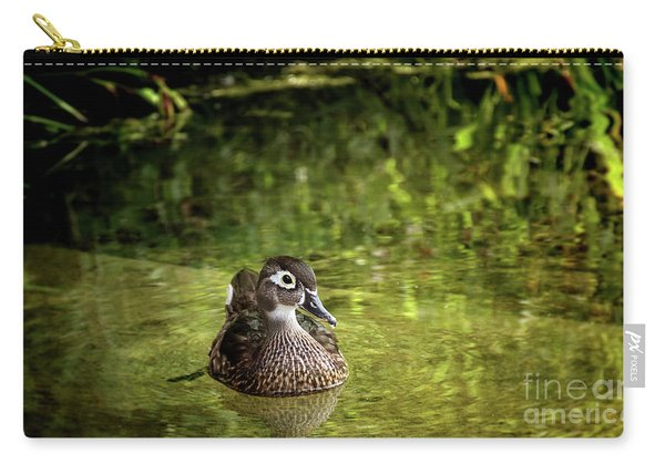 Carry-all Pouch featuring the photograph Lone Duckling by Susan Warren