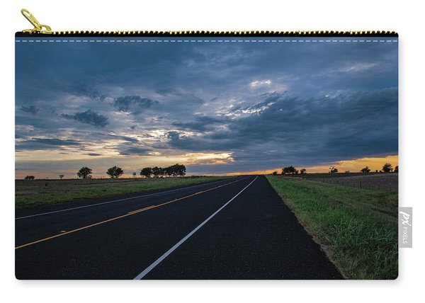 Lone Highway At Sunset Carry-all Pouch