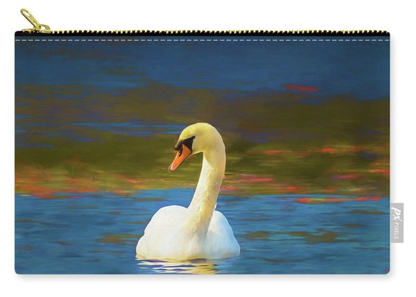Lone Mute Swan. Carry-all Pouch