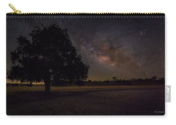 Lone Oak Under The Milky Way Carry-all Pouch