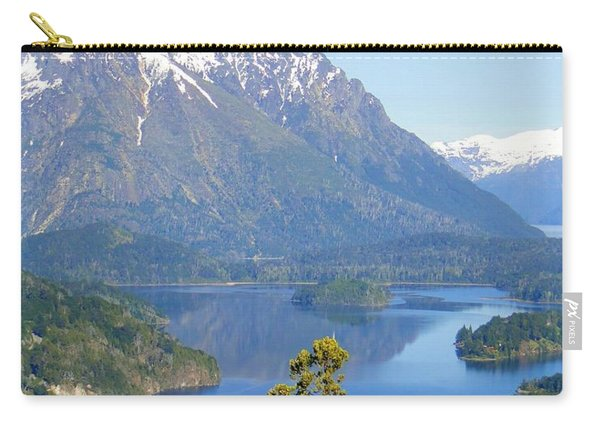 Lone Pine By Andes Mountain Lake Carry-all Pouch