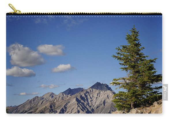 Carry-all Pouch featuring the photograph Lone Tree On Sanson Peak by Mary Lee Dereske