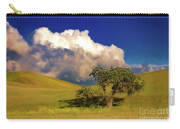 Lone Tree With Storm Clouds Carry-all Pouch
