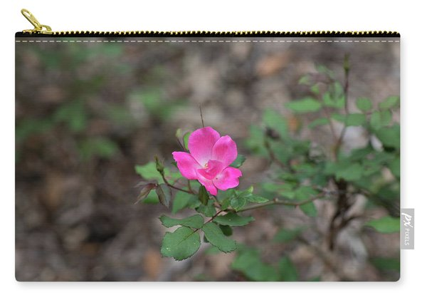 Carry-all Pouch featuring the photograph Lonely Pink Flower by Raphael Lopez